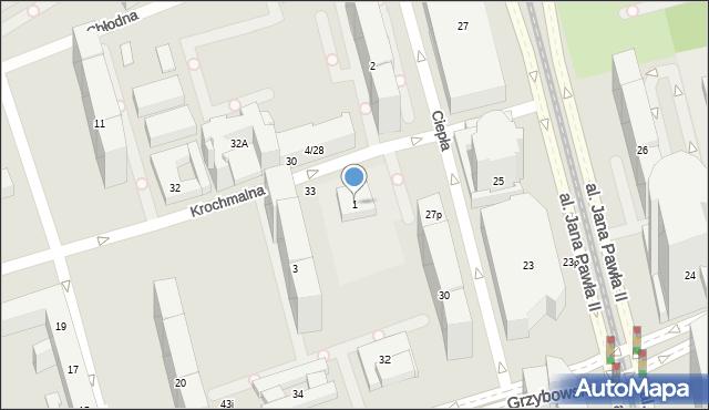 Warszawa, Krochmalna, 1, mapa Warszawy