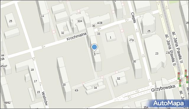 Warszawa, Krochmalna, 3, mapa Warszawy