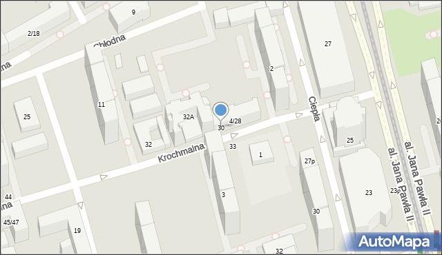 Warszawa, Krochmalna, 30, mapa Warszawy