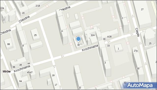 Warszawa, Krochmalna, 32, mapa Warszawy