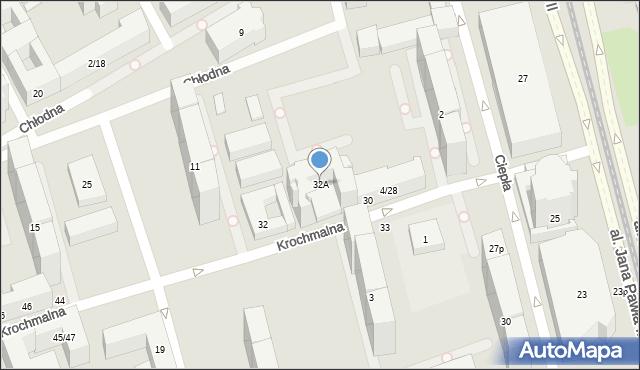 Warszawa, Krochmalna, 32A, mapa Warszawy