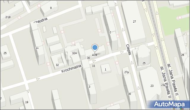 Warszawa, Krochmalna, 4/28, mapa Warszawy