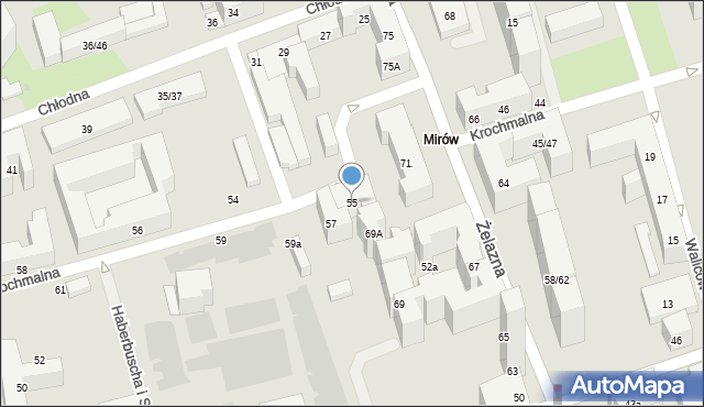 Warszawa, Krochmalna, 55, mapa Warszawy