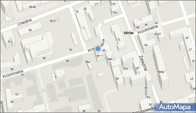 Warszawa, Krochmalna, 57, mapa Warszawy