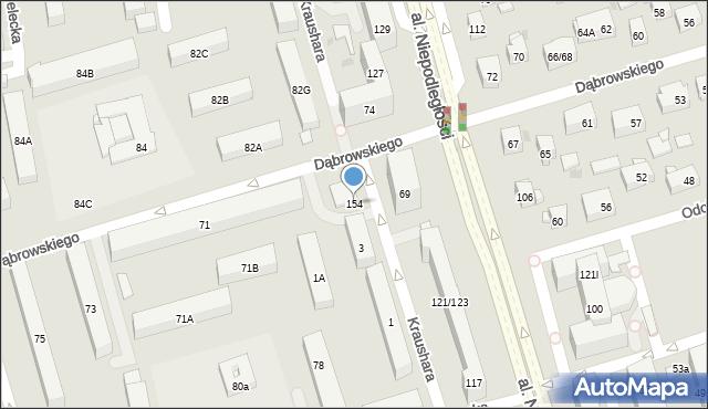 Warszawa, Kraushara Aleksandra, 154, mapa Warszawy