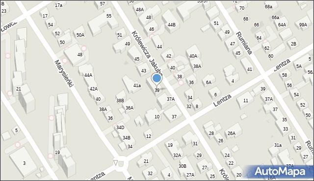 Warszawa, Królewicza Jakuba, 39, mapa Warszawy