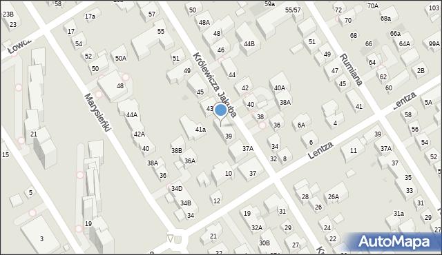 Warszawa, Królewicza Jakuba, 41, mapa Warszawy