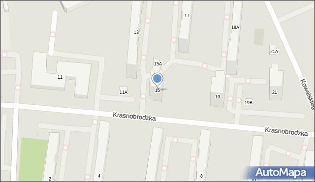 Warszawa, Krasnobrodzka, 15, mapa Warszawy