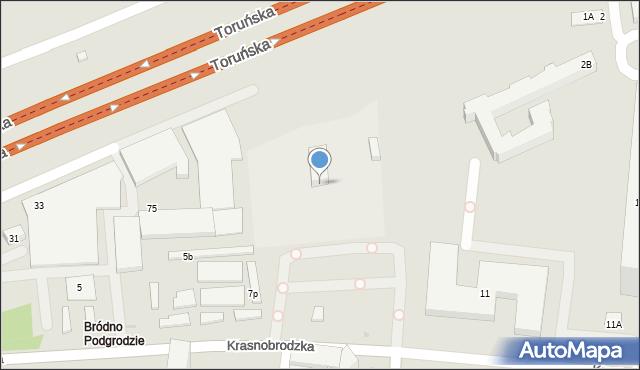 Warszawa, Krasnobrodzka, 9, mapa Warszawy