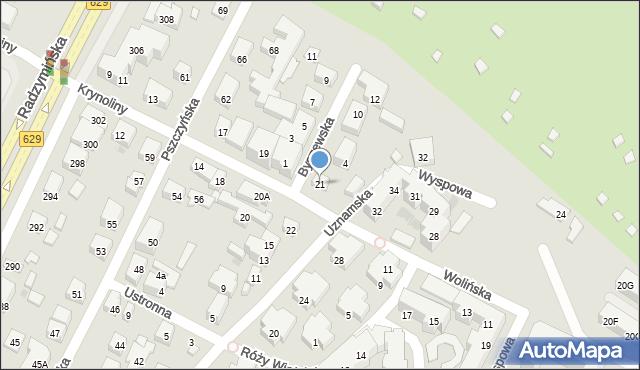 Warszawa, Krynoliny, 21, mapa Warszawy