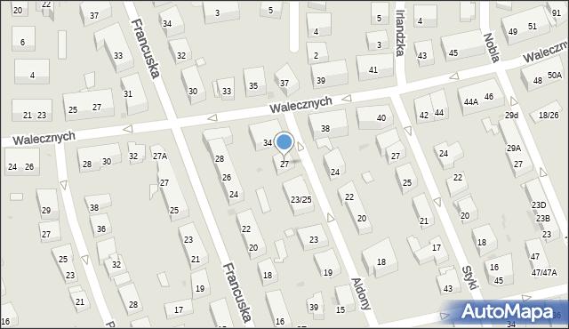 Warszawa, Królowej Aldony, 27, mapa Warszawy