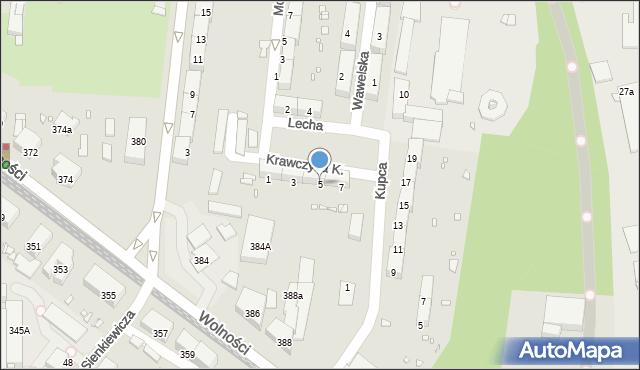 Zabrze, Krawczyka Klemensa, 5, mapa Zabrza