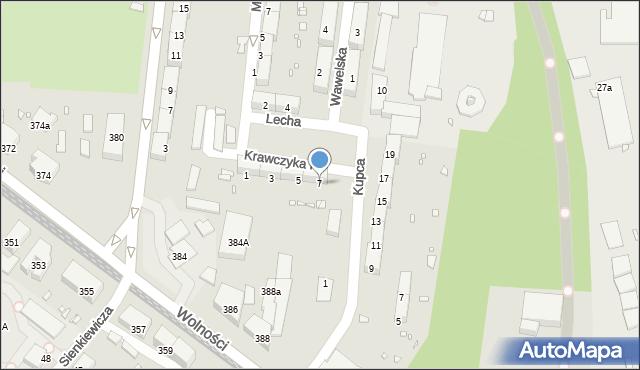 Zabrze, Krawczyka Klemensa, 7, mapa Zabrza