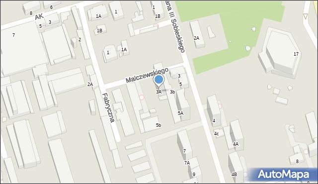 Zabrze, Króla Jana III Sobieskiego, 3A, mapa Zabrza