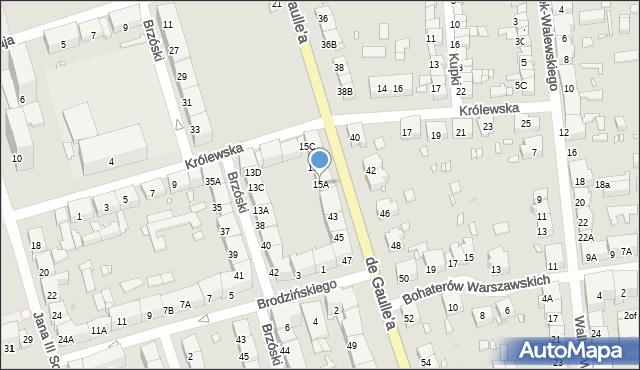 Zabrze, Królewska, 15A, mapa Zabrza