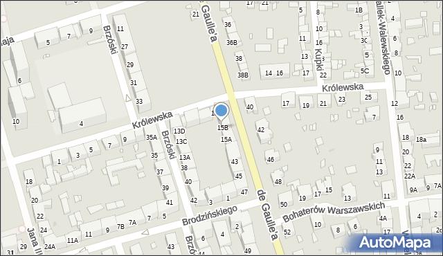 Zabrze, Królewska, 15B, mapa Zabrza