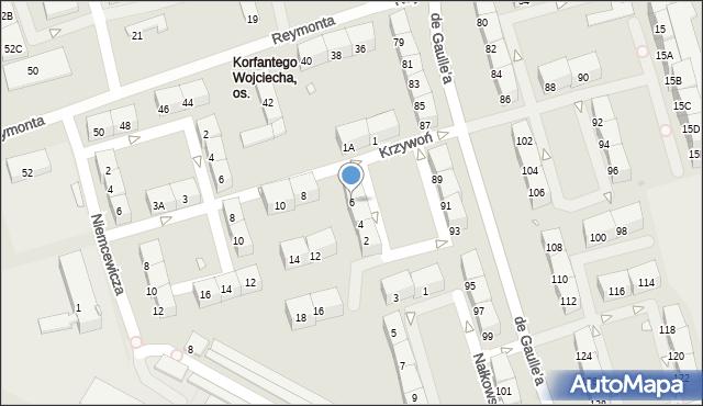 Zabrze, Krzywoń Anieli, 6, mapa Zabrza