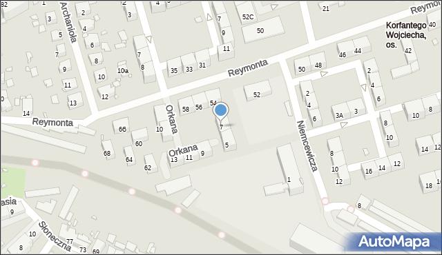 Zabrze, Krzywoń Anieli, 7, mapa Zabrza