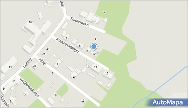Zabrze, Kraszewskiego Józefa Ignacego, 10, mapa Zabrza