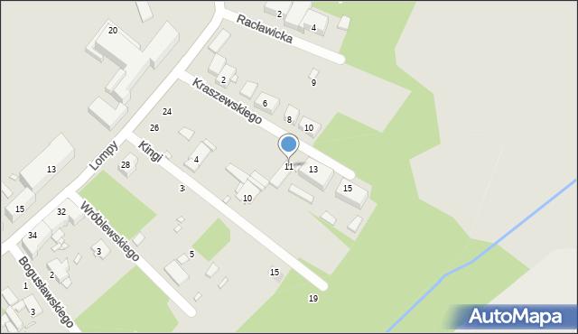 Zabrze, Kraszewskiego Józefa Ignacego, 11, mapa Zabrza