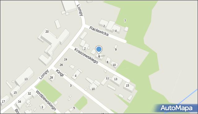 Zabrze, Kraszewskiego Józefa Ignacego, 6, mapa Zabrza