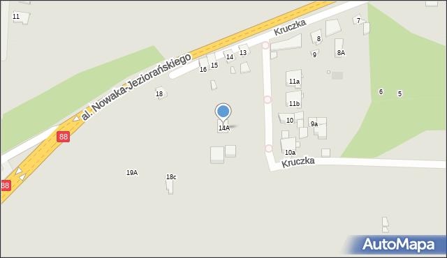 Zabrze, Kruczka Marcelego, 14A, mapa Zabrza