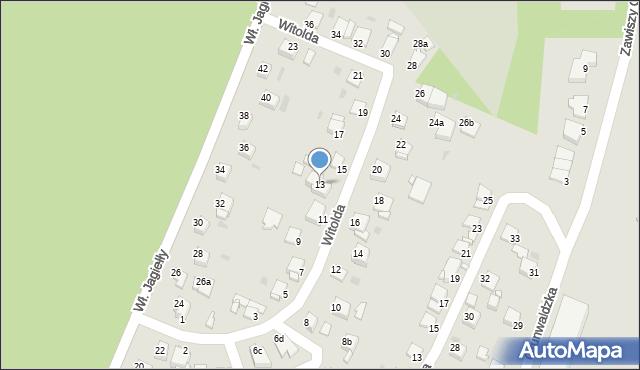 Grudziądz, Księcia Witolda, 13, mapa Grudziądza