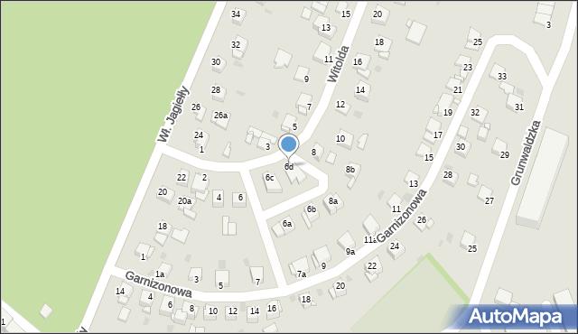 Grudziądz, Księcia Witolda, 6d, mapa Grudziądza