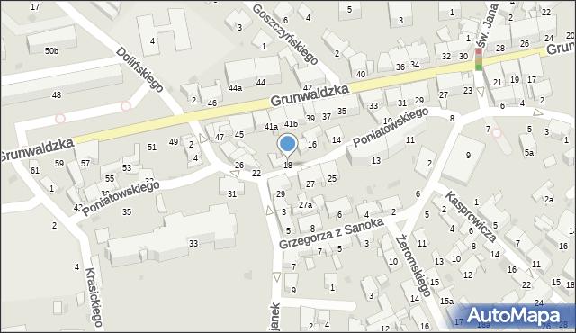 Przemyśl, Księcia Józefa Poniatowskiego, 18, mapa Przemyśla