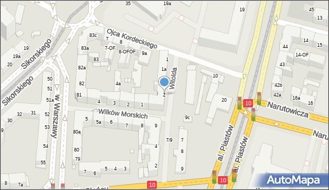 Szczecin, Księcia Witolda, 2, mapa Szczecina