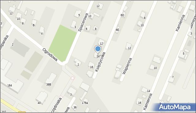 Wacyn, Księżycowa, 14, mapa Wacyn