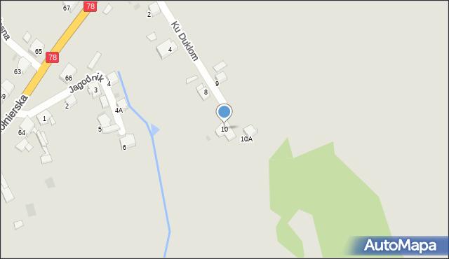 Bytom, Ku Duklom, 10, mapa Bytomia