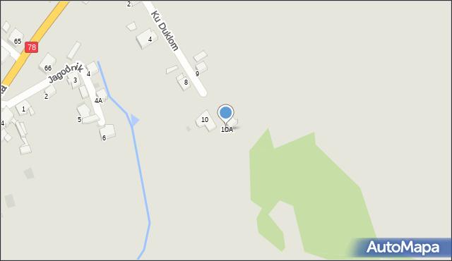 Bytom, Ku Duklom, 10A, mapa Bytomia