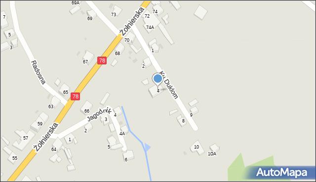 Bytom, Ku Duklom, 4, mapa Bytomia