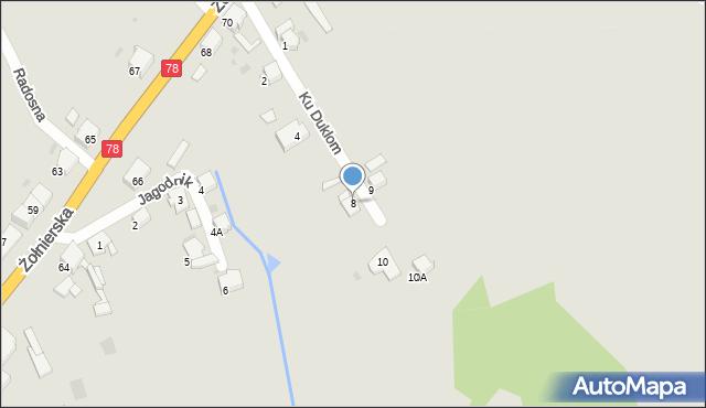 Bytom, Ku Duklom, 8, mapa Bytomia