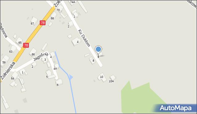 Bytom, Ku Duklom, 9, mapa Bytomia
