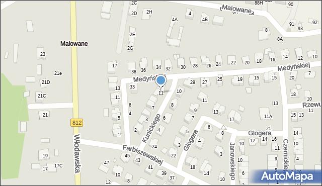 Chełm, Kunickiego Leona, 11, mapa Chełma
