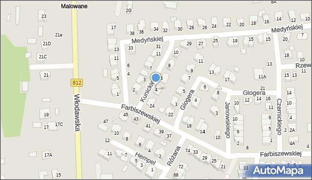 Chełm, Kunickiego Leona, 4, mapa Chełma