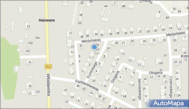 Chełm, Kunickiego Leona, 9, mapa Chełma