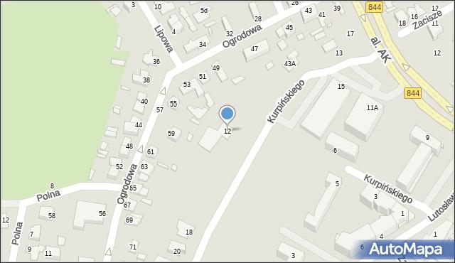 Chełm, Kurpińskiego Karola, 12, mapa Chełma