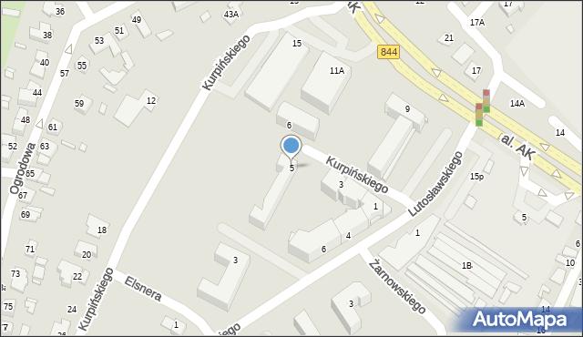 Chełm, Kurpińskiego Karola, 5, mapa Chełma