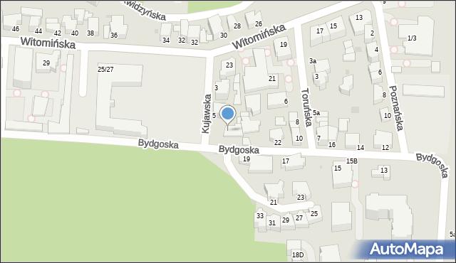 Gdynia, Kujawska, 7, mapa Gdyni