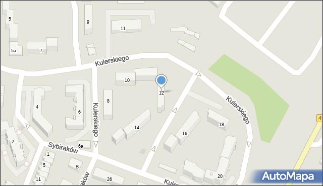 Grudziądz, Kulerskiego Wiktora, 12, mapa Grudziądza