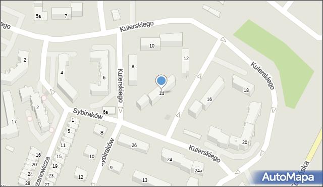 Grudziądz, Kulerskiego Wiktora, 14, mapa Grudziądza