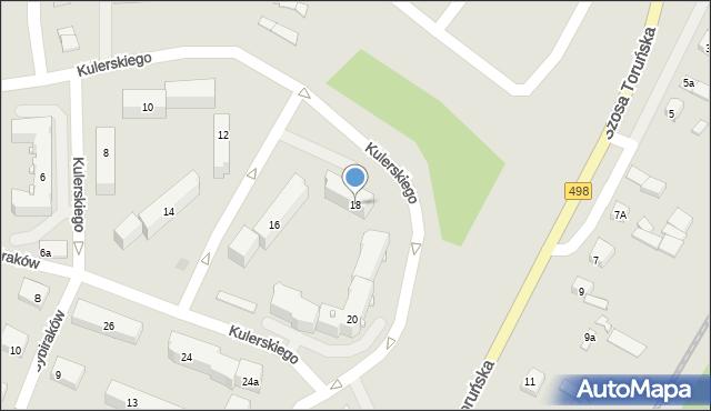 Grudziądz, Kulerskiego Wiktora, 18, mapa Grudziądza