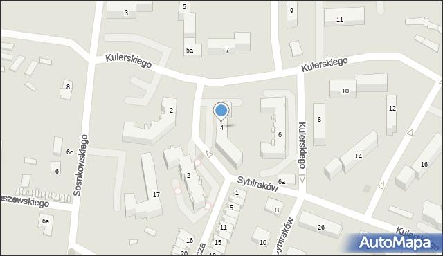 Grudziądz, Kulerskiego Wiktora, 4, mapa Grudziądza
