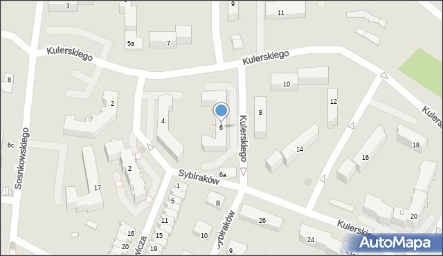 Grudziądz, Kulerskiego Wiktora, 6, mapa Grudziądza