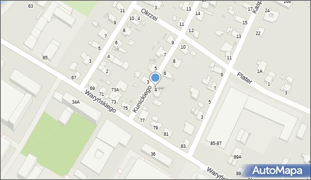 Grudziądz, Kunickiego, 4, mapa Grudziądza