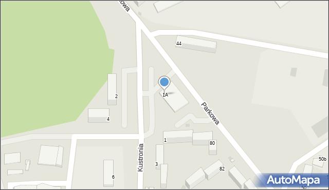 Grudziądz, Kustronia Józefa, gen., 1A, mapa Grudziądza