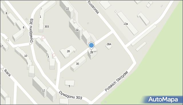 Grudziądz, Kustronia Józefa, gen., 28, mapa Grudziądza